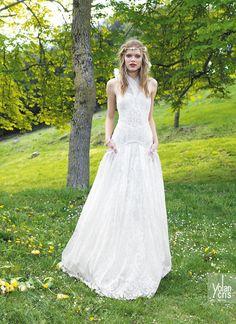 vestido de noiva estilo hippie com bolsos yolancris boho chic 2015