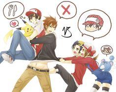 pokemon red green | Render Pokemon - Renders red blue green celesta gold pokemon pikachu ...