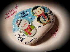 Let It Snow painted Rock