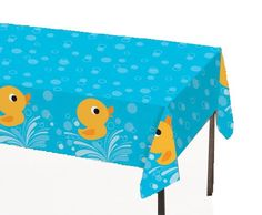 """Creative Converting Lil' Quack Plastic Tablecover, Rectangle, 54"""" x 108"""" Creative Converting,http://www.amazon.com/dp/B007PFU3D2/ref=cm_sw_r_pi_dp_wd95sb0G5382CA8Z"""