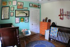 A colorful gender neutral nursery for two!