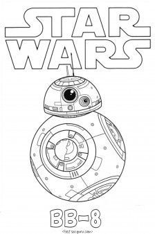 print out star wars the force awakens bb 8 coloring pages for kidsfree pritnable - Star Wars Pictures To Colour In