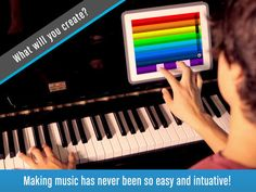 Fingertip Maestro - Play piano chords, learn best guitar, fun drums, great music keyboard. Compose, share, record & export tagged HD PRO audio. screenshot