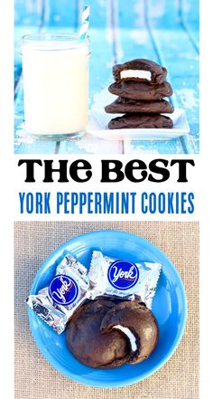 Easy Cake Mix Cookies! These york peppermint cookies blend cool mint and decadent chocolate into one irresistible cookie. Go give them a try this week! Decadent Chocolate, Best Chocolate, Chocolate Recipes, Peppermint Cookies, Peppermint Patties, Cake Mix Cookies, Yummy Cookies, Baking For Beginners, Best Cookie Recipes