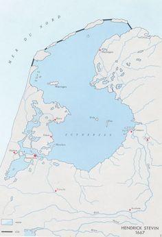 Plan voor inpoldering Zuiderzee, H. Stevin, 1667