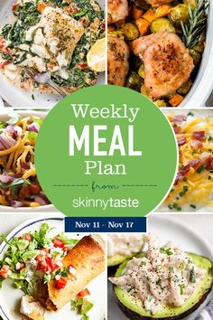A free 7-day flexible weight loss meal plan including breakfast, lunch and dinner and a shopping list. All recipes include calories and WW SmartPoints®. Meal Plan I don't know about you, but I cannot believe that it is already November and this year is almost over! With that being said though, I have so much […] The post Skinnytaste Meal Plan (November 11-November 17) appeared first on Skinnytaste.