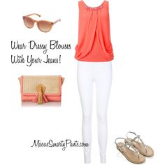 """MissusSmartyPants.com Says: White Jeans for Spring"" by mspsmartypants on Polyvore"
