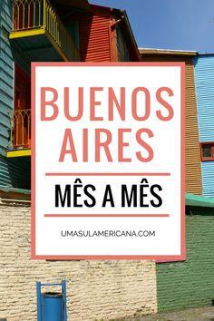 Buenos Aires mês a mês - Veja o que rola na capital da Argentina de janeiro a dezembro e programe sua viagem. Vem ver quais são as exposições, feiras, festivais, shows que rolam em Buenos Aires em cada mês do ano. Tem também uma média das temperaturas e previsão de chuva em cada mês.