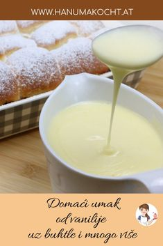 Homemade vanilla sauce - Somehow, for me, tufting without vanilla sauce is not the real thing. Dessert Sauces, Dessert Recipes, Birthday Snacks, Vanilla Sauce, Homemade Vanilla, Homemade Sauce, Easy Baking Recipes, Pampered Chef, Easy Desserts