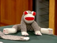 How to create another member of the sock monkey family, a sock frog. From the experts at DIYNetwork.com.