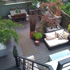 OBLONG PLANTER WITH TWIGS, ON WHEELS roomenvy - urban garden roof terrace