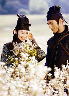 Zhang Ziyi & Takeshi Kaneshiro in 'House of Flying Daggers' (2004).