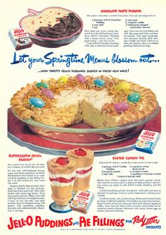 "Butterscotch Jewel Parfait and Easter Sunday Pie Recipes from ""Good Housekeeping"" Magazine 