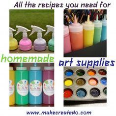 Homemade Art/Craft Supplies.  LOVE this collection of DIY recipes!