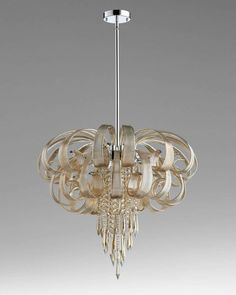 Astor 10-Light Chandelier, Silver - Neiman Marcus