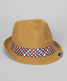 Take a look at this Natural Straw Fedora - Women & Men by Crocs on #zulily today!