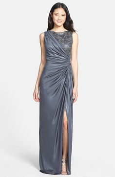 Adrianna Papell Sequin Lace & Jersey Gown available at #Nordstrom $218