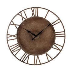 """Sterling Industries Sterling Industries Oversized 31.5"""" Roman Numeral Wall Clock"""