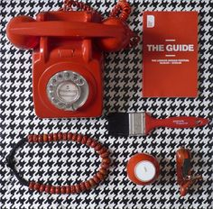 via Things Organized Neatly     #houndsooth #red #phone
