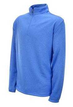 Pebble Beach Men's Performance Pullover 1/4 Zip  Jacket Long Sleeve Shirt Blue #PebbleBeach #CoatsJackets