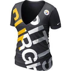 ced036907 Nike Pittsburgh Steelers Ladies Tri-Blend Off Kilter Premium T-Shirt - Black