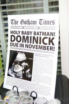 batman baby shower Sign