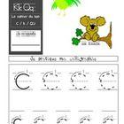 Cahier du son C (Lettres C, K, Q) Letters C, K , Q Book - FRENCH...