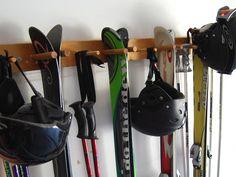 Snow Ski Storage Rack, Wall Mount, 4 Skis. $35.00, via Etsy.