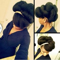 Gorgeous Tuck And Roll Natural Updo - http://www.blackhairinformation.com/community/hairstyle-gallery/updos/gorgeous-tuck-roll-natural-updo/ #naturalhair #updo #protectivestyle