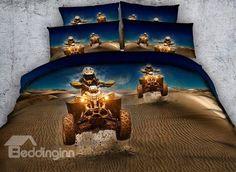 oil painting queen bed sheets desert motocross cotton comforter/duvet cover set home decor twin king men boy woven Bedding And Curtain Sets, 3d Bedding Sets, King Size Bedding Sets, King Size Duvet Covers, Comforter Cover, Grey Comforter, Pillow Covers, Motocross, Queen Bed Sheets