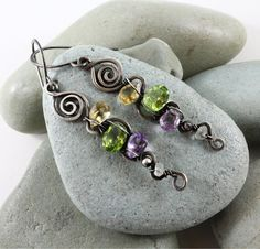 twists - love this interesting mix of twists, swirls & beads - possible ending to a suncatcher (3 strands?)