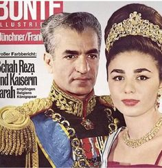 Imperial Majesty Mohammad Reza Shah Pahlavi and Empress Shahbanoo Farah on the cover of Bunte magazine King Of Persia, Adele, Pahlavi Dynasty, The Shah Of Iran, Iranian Women, Iranian Art, Farah Diba, Women Lawyer, Royal Jewels