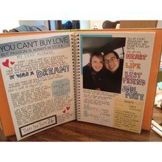 Diy Gifts For Boyfriend Scrapbook Smash Book 47 Ideas - Scrapbooking Bf Gifts, Diy Gifts For Boyfriend, Couple Gifts, Scrapbook Ideas For Boyfriend, Scrap Book For Boyfriend, Scrapbook Ideas For Couples, Memory Journal, Love Journal, Anniversary Scrapbook