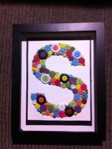 Button Monogram - great tutorials on this site... Funny writers and good crafts