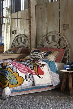 """Sweet little bedroom with a rustic bohemian vibe, from anthropologie. #design #decor #bed (from """"Tuesday Trendspotting: The Eclectic Beauty Of Boho-Chic Design, Part 1"""")"""