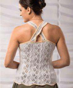 Free Knitting, Knitting Patterns, Crochet Patterns, Knit Crochet, Lace, Summer, Tops, Women, Fashion