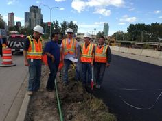 """""""Mayor Nenshi thanking workers who are building a new MacLeod Trail in the old median! Images Of Flood, Calgary, Trail, Old Things, Twitter, City, Building, Fashion, Moda"""