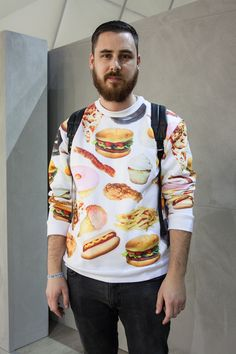 Lunchtime fast-fashion at Bread & Butter: vivid pop culture graphics as seen in #Berlin WGSN street shot, Bread & Butter autumn/wint...