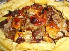 Greek Recipes, Meat Recipes, Baking Recipes, Recipies, Different Recipes, Other Recipes, Greek Cooking, Food Decoration, Christmas Cooking