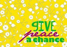 Give Peace A Chance 8x10 John Lennon art print by westeightythird, $11.00