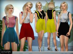 The Sims Resource: Skater Skirt With Flouncing Hem by DarkNighTt • Sims 4 Downloads