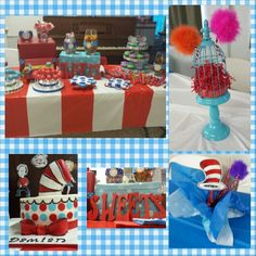 Dr. Seuss theme for a boys babyshower or birthday party!