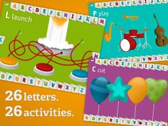 AlphaTots * 26 mini-games that make learning the alphabet fun! * Fun surprises around every corner that keep them coming back for more. * Audio-visual cues that help children associate letters with sounds and words. * Over 100 lines of dialogue, including the positive reinforcement that inspires kids to learn.  30MB