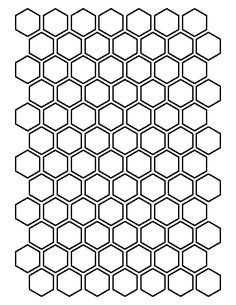 1 Inch Hexagon Pattern. Use The Printable Outline For Crafts, Creating  Stencils, Scrapbooking