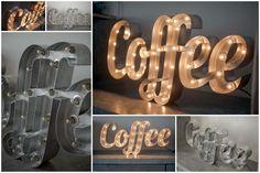 Светящиеся слова и надписи - RetroBlock.Мастерская по производству светильников, вывесок, мебели и декора.