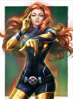"art-of-cg-girls: ""Jean Grey by SpiderWee . Comics Anime, Marvel Comics Art, Marvel Films, Archie Comics, Marvel Heroes, Captain Marvel, Thor Marvel, Avengers, Jean Grey Phoenix"