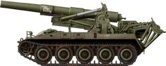 "M107, Viet-Nâm 1968: Many received local nicknames like ""Sấm sét"" (Lightning) and ""Vua chiến trường"" (King of Battlefield) painted on the barrel."