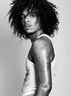 Medium Length Curly Afro-American Hairstyle