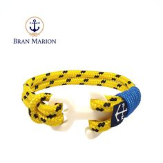 Aine Nautical Bracelet by Bran Marion Nautical Bracelet, Nautical Jewelry, Marine Rope, Azul Real, Fix You, Anklet, Handmade Bracelets, Everyday Fashion, Color Combinations