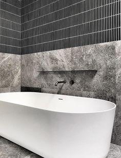 Finger Mosaics - Wall Tiles Application: Wall Only Residential & Commercial Internal & External Contemporary Bathroom Designs, Bathroom Tile Designs, Bathroom Renos, Bathroom Colors, Bathroom Renovations, Bathroom Storage, Bathroom Interior, Small Bathroom, Restroom Design